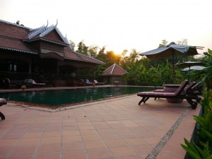 Kratie: Insel Koh Trong, Hotel Rajabori Villas