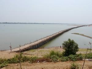 Kampong Cham: Bambusbrücke