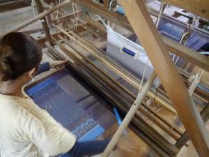 Siem Reap: Seidenfarm, Weben