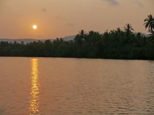 Koh Kong: 4 River Floating Lodge, Sonnenuntergang