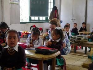 Glenburn: Schule oberhalb Fabrik, Kindergarten