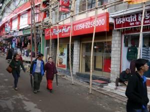 Darjeeling: Pizza Hut in der Hauptgasse