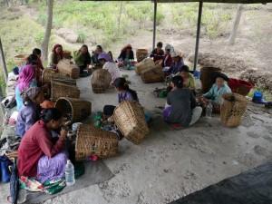 Glenburn: Teepflückerinnen beim Mittagessen