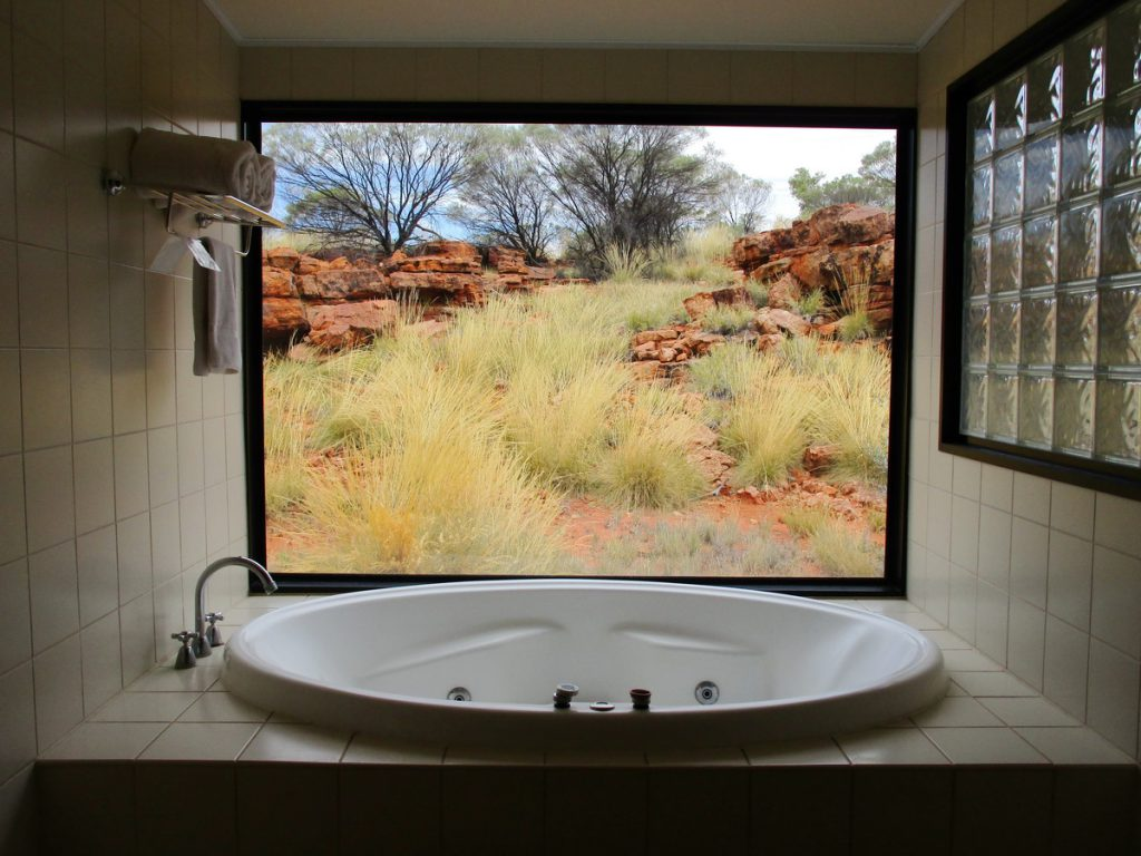 Kings Canyon Resort - unser Zimmer mit Spa