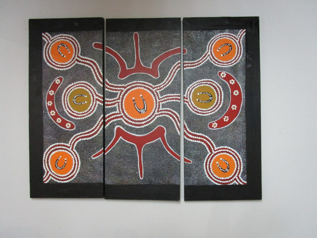Beispiel einer Malerei der Urbevölkerung