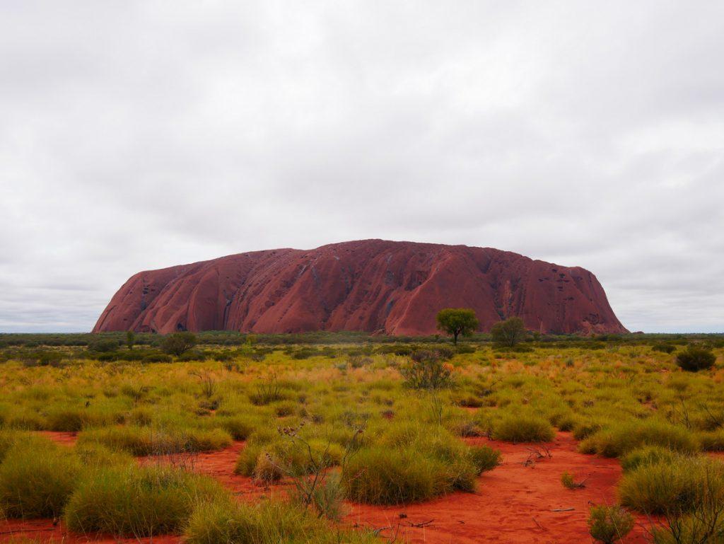 Uluru am Morgen nach sehr starkem Regen